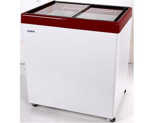 Ларь морозильный с прямым стеклом Снеж МЛП-250
