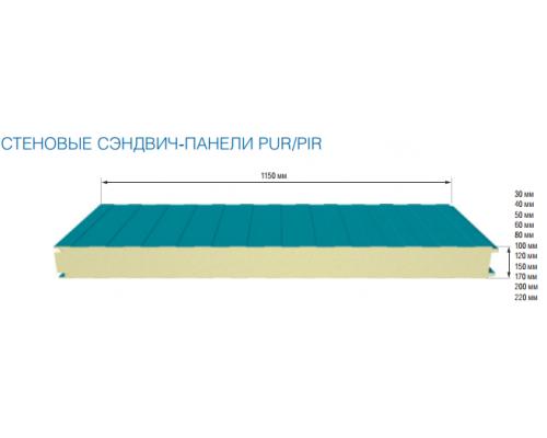 Сэндвич-панель стеновая 30 мм. PIR Ral 9003/Ral 9003 Полиестер