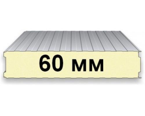 Сэндвич-Панель Стеновая 60 мм. PIR Ral 9003/Ral 9003 Полиестер